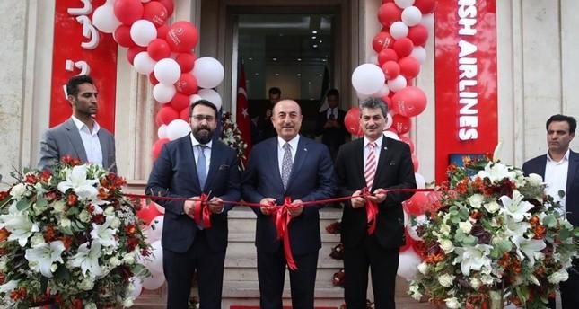 تشاوش أوغلو يفتتح مكتب الخطوط التركية بإصفهان الإيرانية