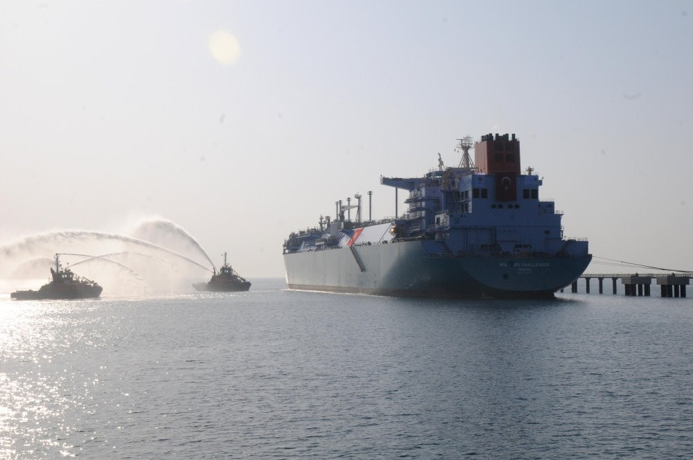 Turkey's second floating storage unit (FSRU) with a daily output capacity of 20 million cubic meters started operations at a port in Du00f6rtyol, Hatay on the Mediterranean in February.