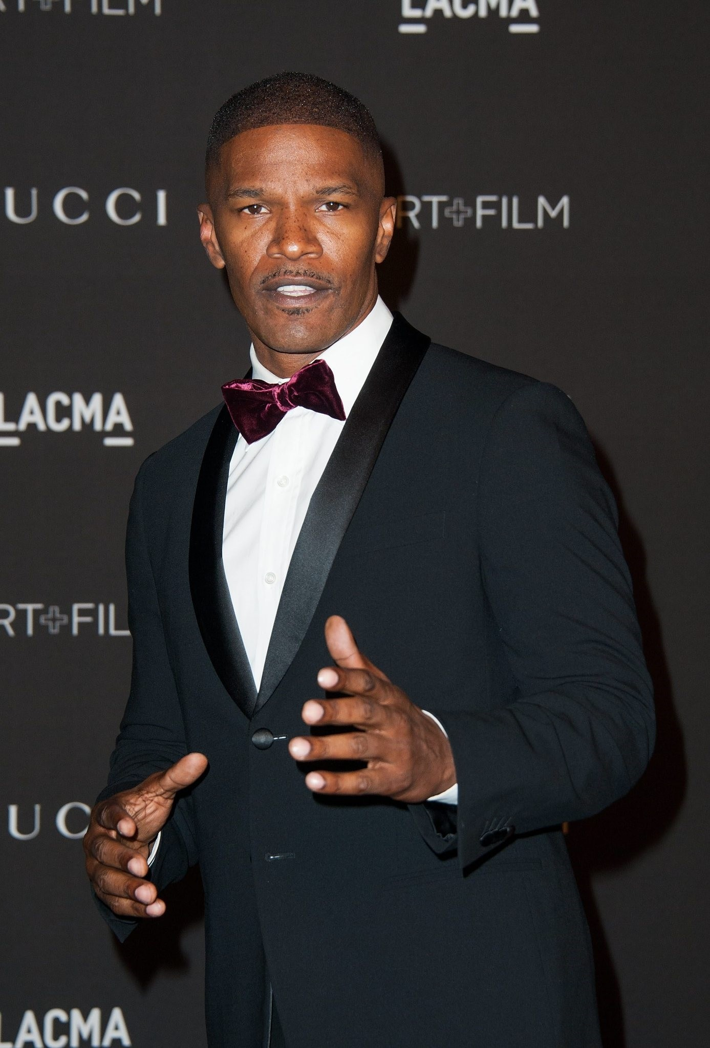 Jamie Foxx arriving for the 2014 LACMA Art (AFP Photo)