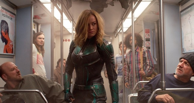 This image released by Disney-Marvel Studios shows Brie Larson in a scene from Captain Marvel. AP Photo