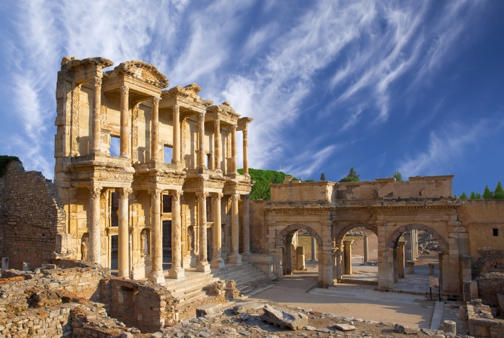 International visits to the ancient city of Ephesus, which dates back to the Neolithic period (6,000 B.C.) and the city became a regular tourist spot in the 1920s.