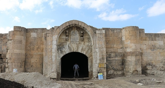 Çardak Han, also referred to as Han Abad Caravanserai in Turkey's Denizli province (AA Photo)