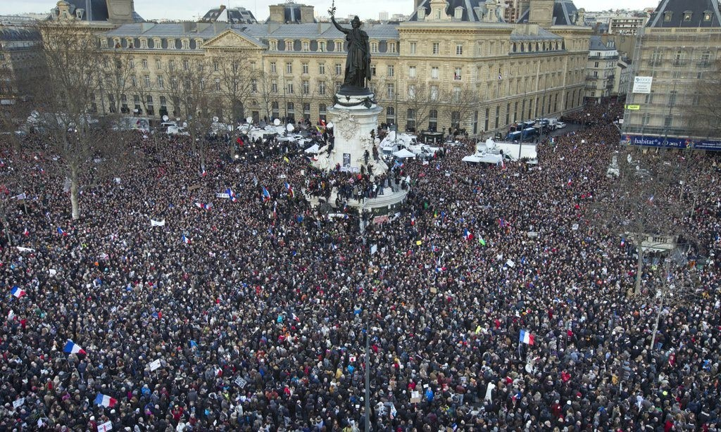 3.7 million march across France in Unity Rally