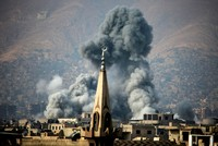 At least nine civilians were killed Thursday in airstrikes carried out by Assad regime warplanes on residential neighborhoods controlled by moderate opposition in Syria's Eastern Ghouta district, a...