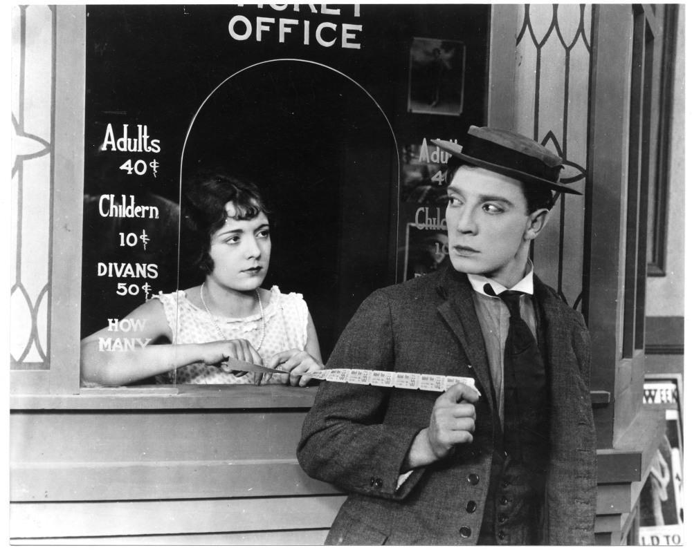 Sherlock Jr, 1924, directed by Buster Keaton.