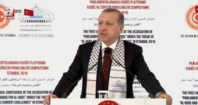 أردوغان: المسجد الأقصى وقبة الصخرة أماكن عبادة للمسلمين فقط
