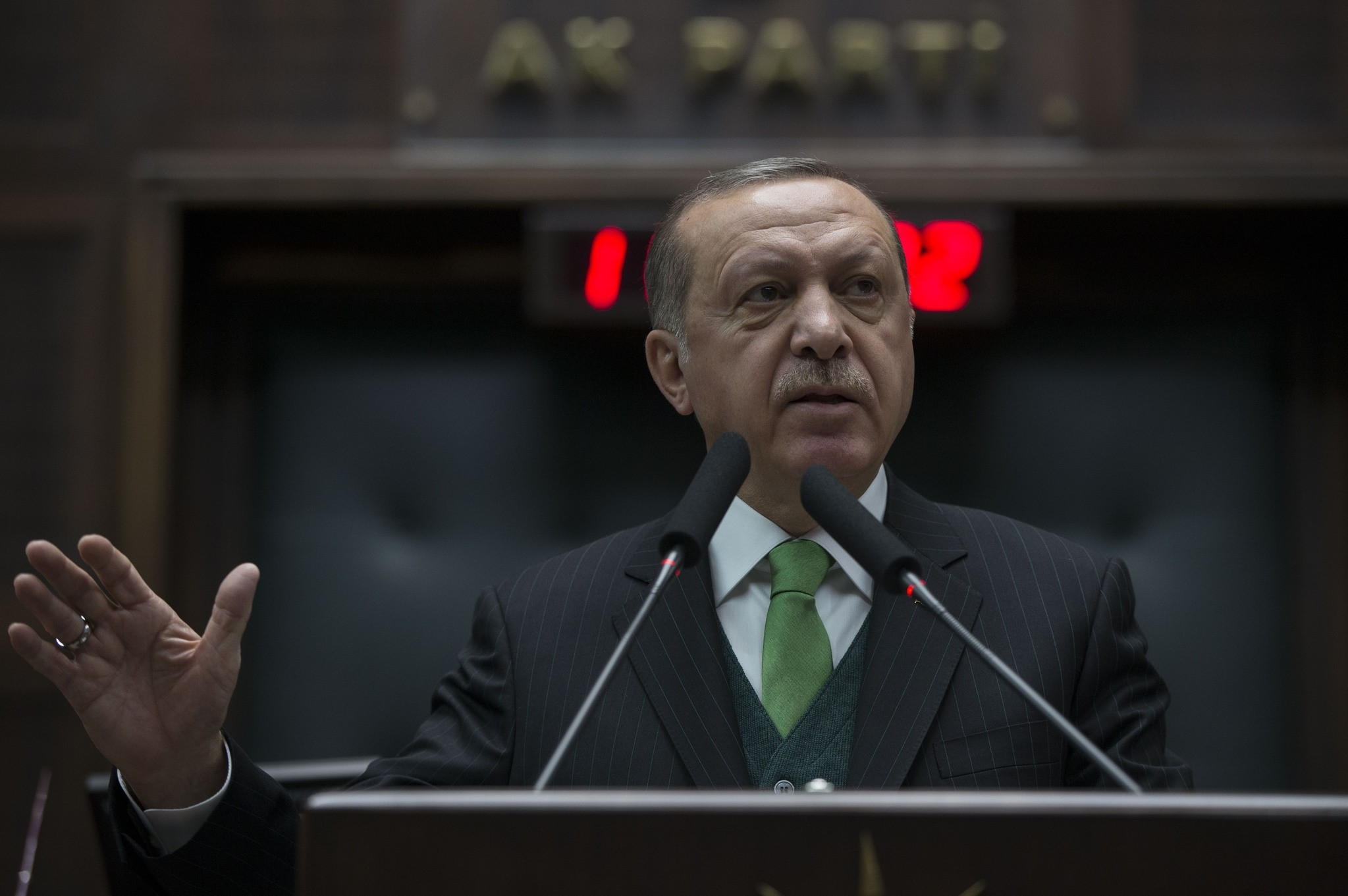 President Erdou011fan yesterday called on NATO to take a stand against the fellow ally, United States,  over its plans to form a 30,000-strong SDF-led border security force in Syria.