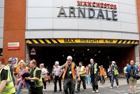 A major shopping centre in the northern English city of Manchester is now reopening after it was temporarily evacuated, a Reuters witness said on Tuesday.  Police had begun removing the cordon...