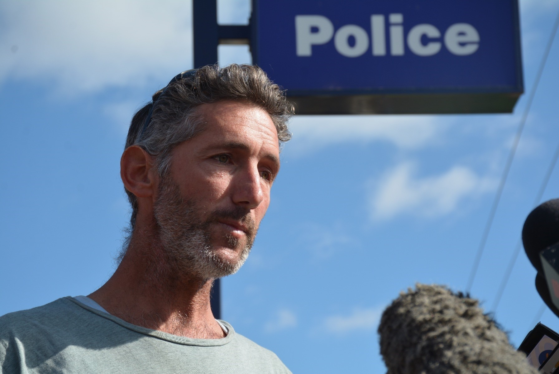 Aaron Cockman, the father of four children killed by their grandfather addresses the media in Margaret River, WA, May 13.