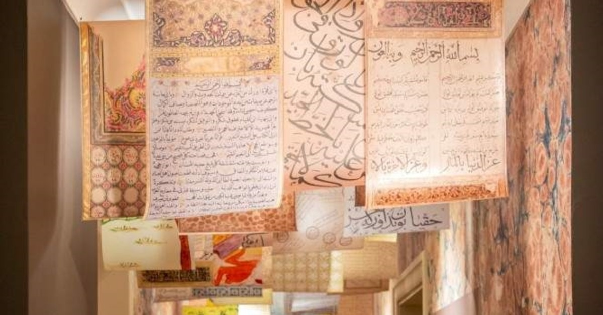 Visitors take a journey among texts, objects and history through Ottoman manuscripts in the exhibition.