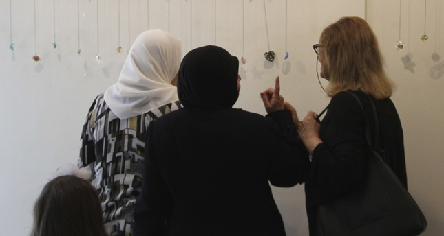 Turkish and Syrian women produced artwork as part of the project.