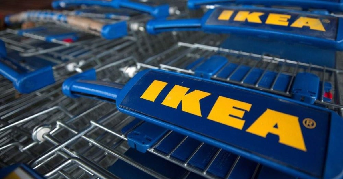 Trollies are seen outside an IKEA store in Wembley, north London, January 28, 2015. (Reuters Photo)