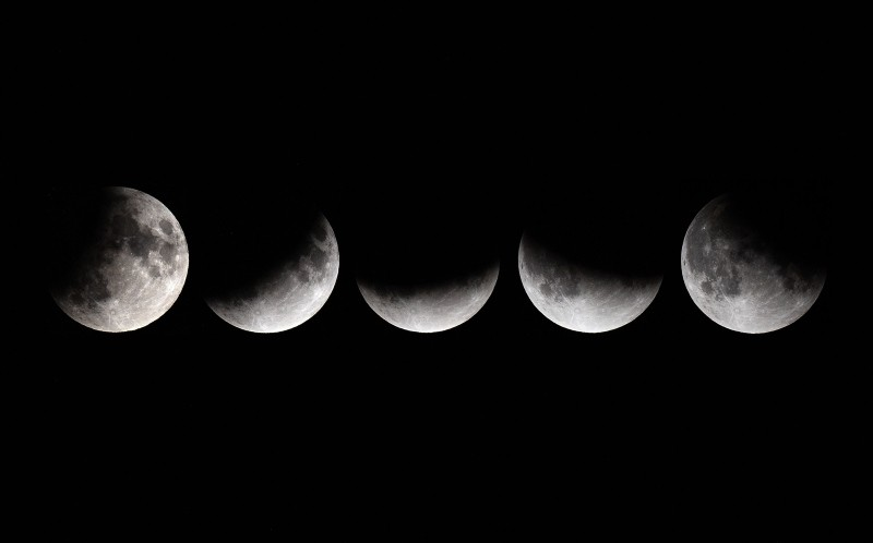 Half-blood thunder moon 2019: Partial lunar eclipse — in pictures