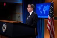 وزير الخارجية الأميركي أنتوني بلينكن متحدثاً الاثنين عن الرد على إيران الفرنسية