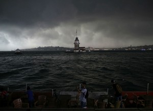 Summer storm floods roads, fells trees in Istanbul