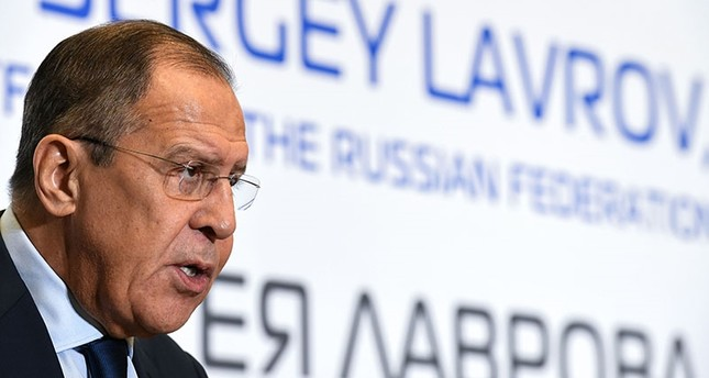 Russian Foreign Minister Sergei Lavrov speaks at a briefing during a meeting with members of the Association of European Businesses (AEB) in Moscow on October 31, 2017. (AFP Photo)