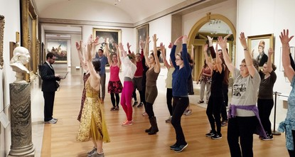 World-class art meets sweaty aerobics. New York City's cavernous Metropolitan Museum of Art has been holding lively morning workout sessions this winter amid its prized masterpieces. The 45-minute...
