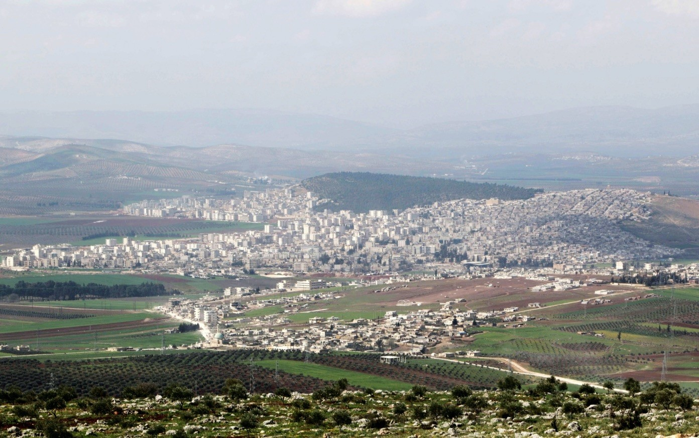 A general view shows the Syrian city of Afrin, near the Turkish border, where the outlawed PKK's Syrian branches, the YPG and PYD, have been recently stationed to continue their terrorist attacks against the Turkish national security, March 18, 2015.