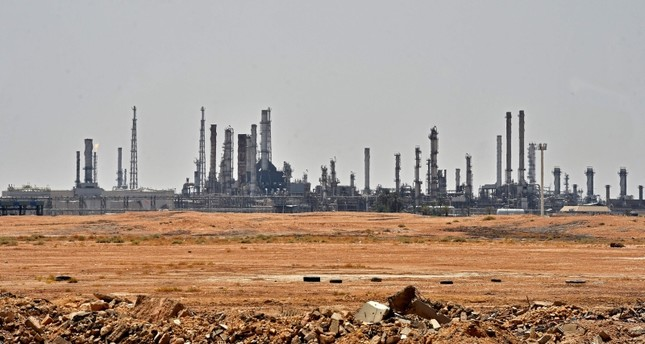 A picture taken on September 15, 2019 shows an Aramco oil facility near al-Khurj area, just south of the Saudi capital Riyadh. (AFP Photo)