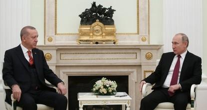 Erdoğan, Putin say committed to all agreements on Idlib