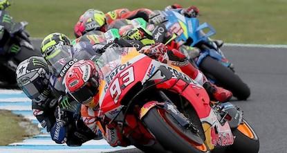 Marquez wins Australia MotoGP thriller as Vinales crashes
