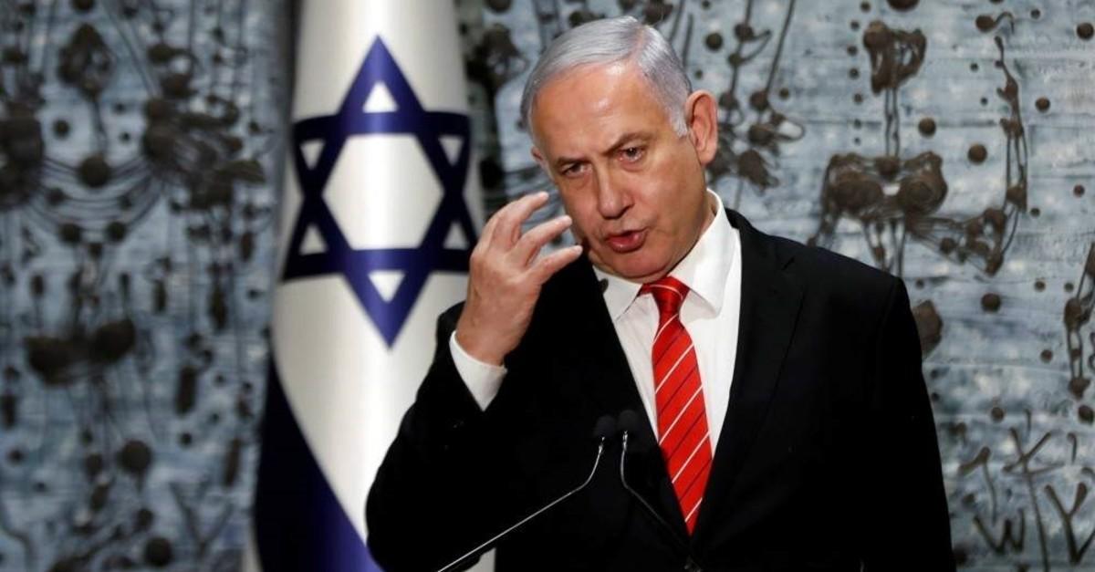 Israeli Prime Minister Benjamin Netanyahu speaks at the president's residence, Jerusalem, Sept. 25, 2019 (REUTERS Photo)