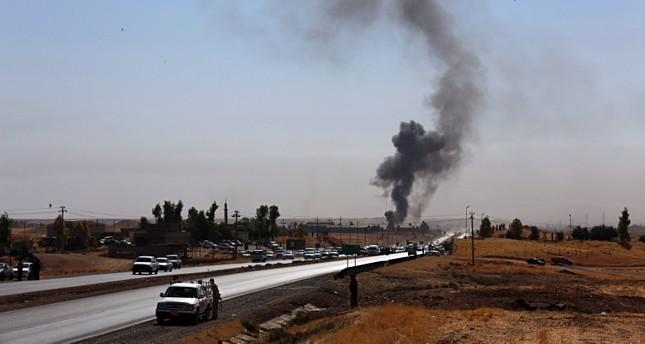 دخان يتصاعد من موقع للحشد الشعبي في قصف سابق (أرشيفية)