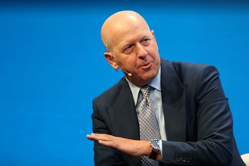David M. Solomon, President and Co-Chief Operating Officer of Goldman Sachs, speaks during the Milken Institute Global Conference in Beverly Hills, California, U.S., May 1, 2017. (Reuters Photo)