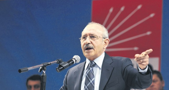 CHP Chairman Kemal Kılıçdaroğlu, speaking at a party congress. He was become main target of criticisms after the election lose on June 24.
