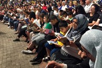 2,000 people read books in Istanbul to promote love of reading