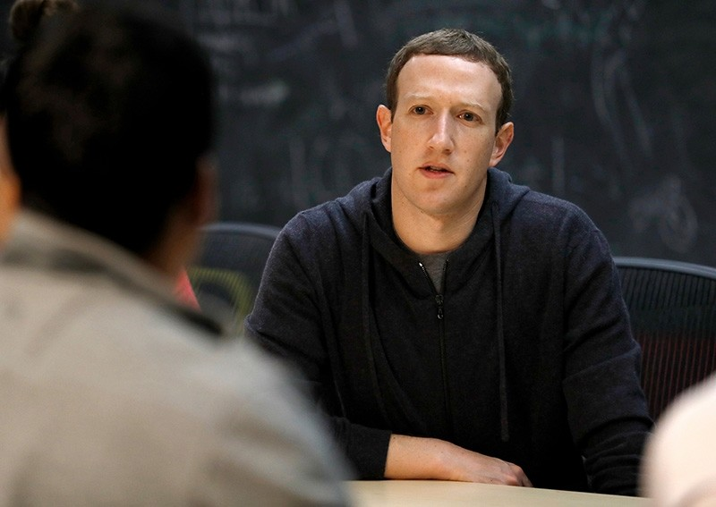 Facebook CEO Mark Zuckerberg meets with a group of entrepreneurs and innovators during a round-table discussion in St. Louis (AP File Photo)