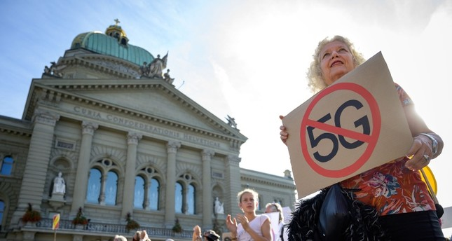 Swiss protesters oppose 5G wireless over health