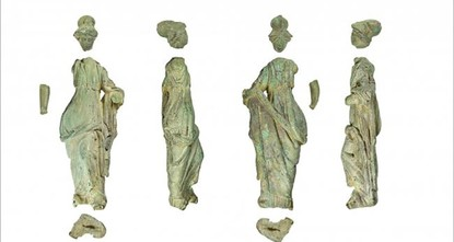 Roman statue found in margarine tub on English farm