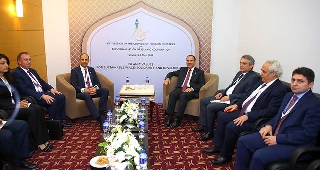 بوزداغ يجري لقاءات على هامش اجتماعات وزراء خارجية التعاون الإسلامي