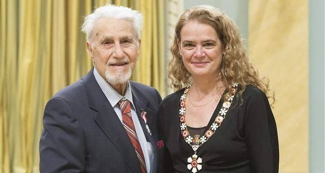 Dr. Fuad Sahin left was awarded the Order of Canada in 2018 and received the award from the Governor of Canada, Julie Payette right, at a ceremony held at the General Governor's Office in Ottawa. AA Photo