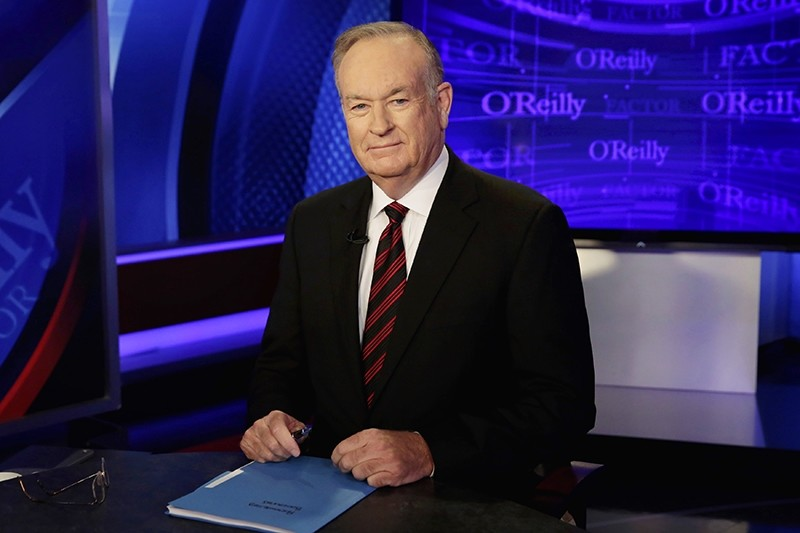 In this Oct. 1, 2015 file photo, host Bill O'Reilly of ,The O'Reilly Factor, on the Fox News Channel, poses for photos in the set in New York. (AP Photo)