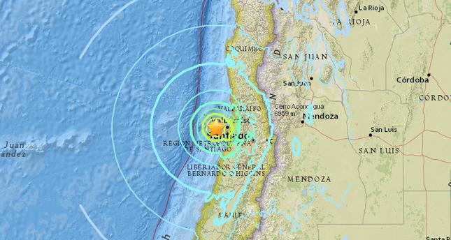 Magnitude 6.9 quake strikes off Chilean coast, near Santiago: USGS