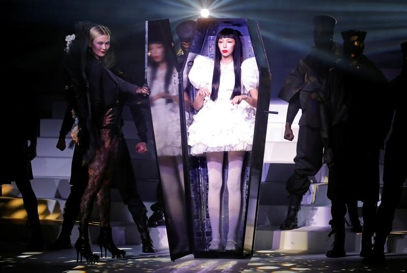 Stars flaunt Gaultier creations for designer's 'funeral' finale in Paris