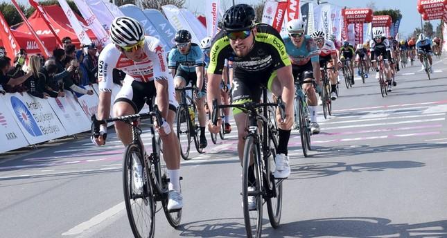 Bas Van Der Kooij ( R)  is the second Dutchman to win in two days.