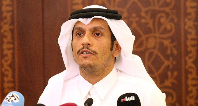 Qatar's Foreign Minister Sheikh Mohammed bin Abdulrahman Al Thani attends a news conference in Doha, Qatar, May 25, 2017. (Reuters Photo)