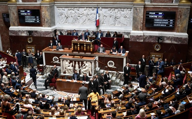French members of Parliament leaves the National Assembly hemicycle after a vote to ratify the CETA during a session at the French National Assembly in Paris on July 23, 2019 (AFP Photo)
