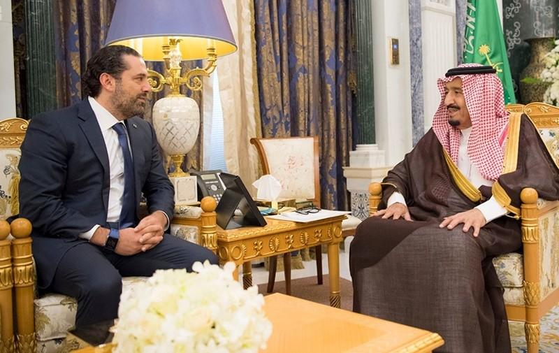 Saudi Arabia's King Salman bin Abdulaziz Al Saud meets with former Lebanese Prime Minister Saad al-Hariri in Riyadh, Saudi Arabia November 6, 2017. (Reuters Photo)