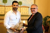 Popular Bollywood actor John Abraham visits Turkey's Antalya