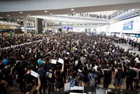 Hong Kong flights cancelled as protesters storm airport