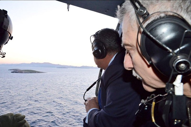 Kammenos shared the images of his visit on his Twitter account.