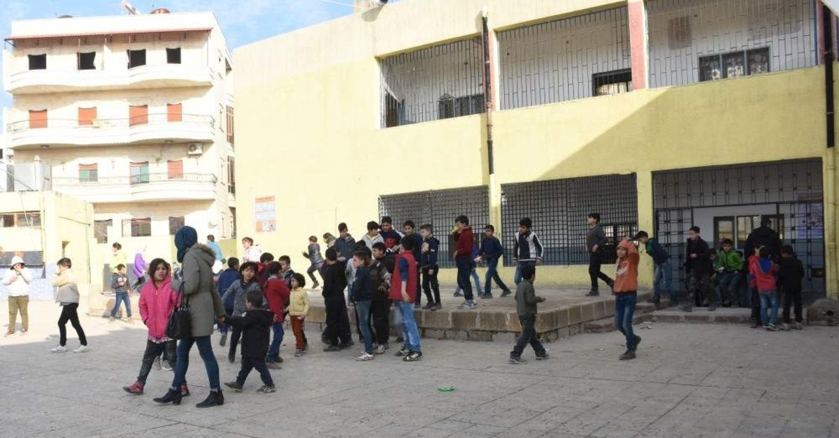 Nearly 53,000 students continue their education in schools located in northern Syria's Afrin, Jan. 19, 2020. (AA)