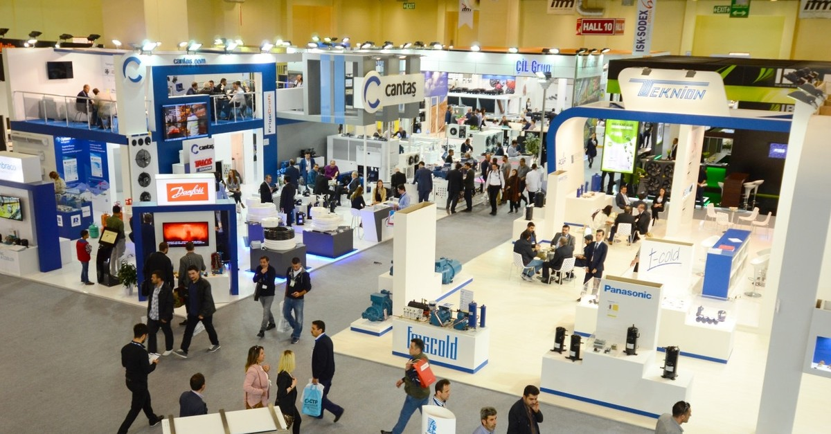 Turkey ranks eighth in Europe in terms of size of the exhibition area and has a 3.8 percent share, while in terms of quantity, it ranks second with 400 exhibitions per year, according to data by the Global Association of the Exhibition Industry.