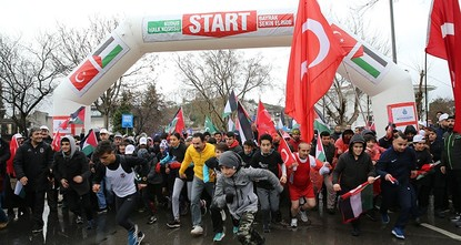 pA public run was held on Sunday in Istanbul to raise awareness about Jerusalem, a contentious issue since early last month when the U.S. recognized the city as Israel's capital./p