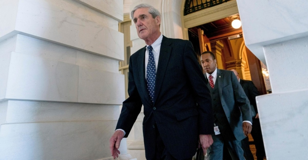 In this June 21, 2017 file photo, former FBI Director Robert Mueller, the special counsel probing Russian interference in the 2016 election, departs Capitol Hill following a closed door meeting in Washington. (AP Photo)
