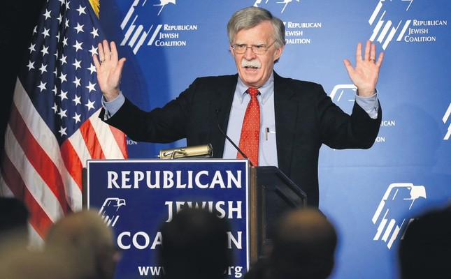 Donald Trump's recently appointed national security adviser John Bolton, former U.S. ambassador to the U.N., speaks at the Republican Jewish Coalition in Las Vegas, March 29, 2014.